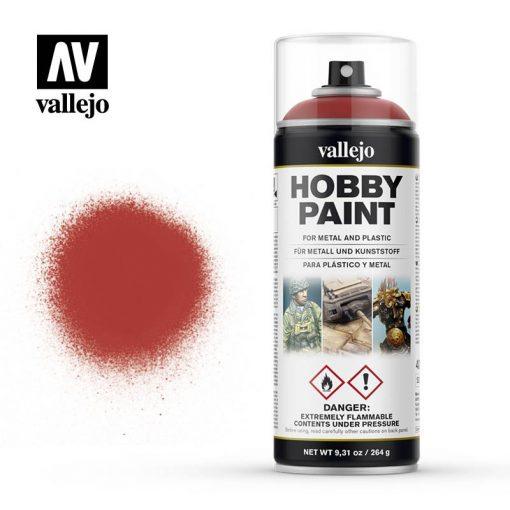 Vallejo Fantasy Color Primer Scarlet Red akril spray 400 ml. 28016