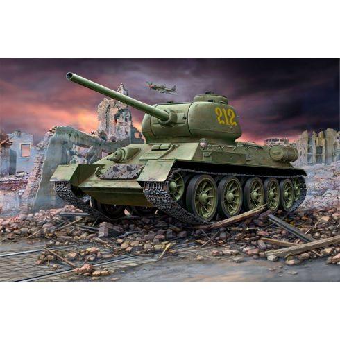 Revell T-34-85 tank makett 3302