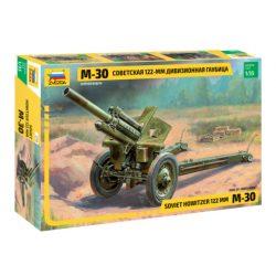 SOVIET 122-ММ HOWITZER М-30 löveg makett Zvezda 3510