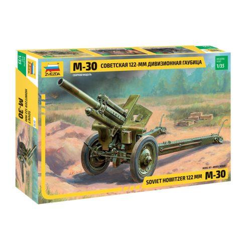 Zvezda SOVIET 122-ММ HOWITZER М-30 löveg makett 3510