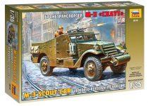 Zvezda M-3 Armored Scout Car katonai jármű makett 3519