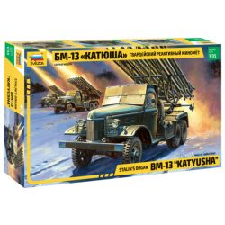 BM-13 Katiusha matonai jármű makett Zvezda 3521