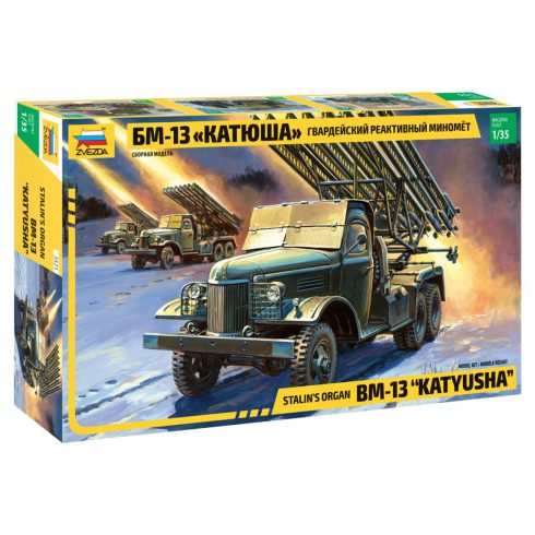 Zvezda BM-13 Katiusha katonai jármű makett 3521