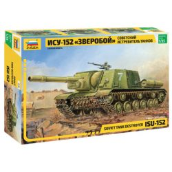 ISU-152 Soviet Self-propelled Gun tank makett Zvezda 3532
