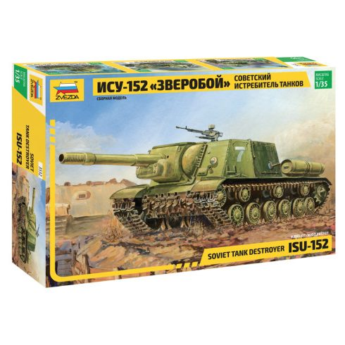 Zvezda ISU-152 Soviet Self-propelled Gun tank makett 3532