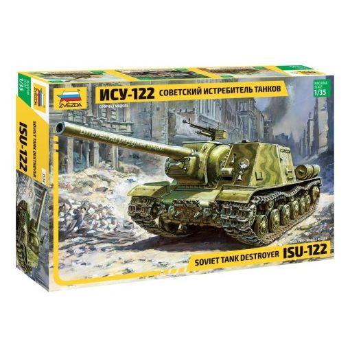 Zvezda ISU-122 tank makett 3534