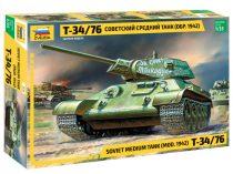 Т-34/76 Soviet tank mod. 1942 tank makett Zvezda 3535