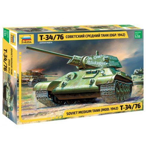 Zvezda Т-34/76 Soviet tank mod. 1942 tank makett 3535