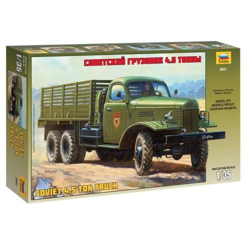 ZIS-151 Soviet Truck katonai jármű makett Zvezda 3541