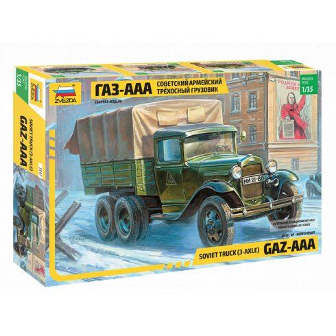 Zvezda Gaz-AAA katonai jármű makett 3547