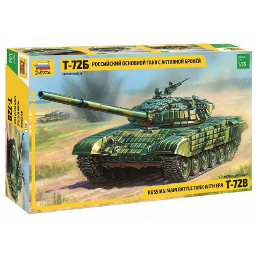 ZVEZDA T-72B WITH ERA RUSSIAN MAIN BATTLE TANK tank makett 3551