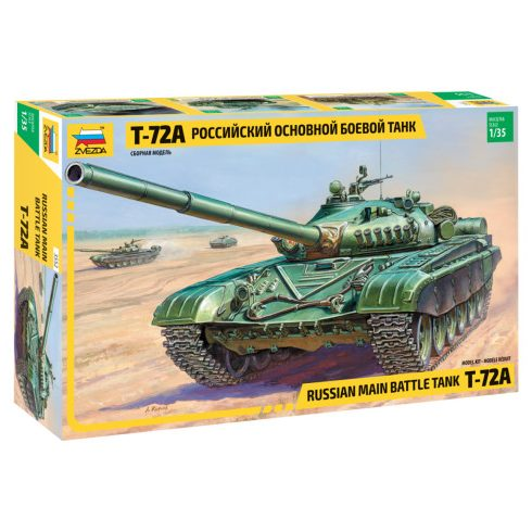 Zvezda T-72A Russian main battle tank makett 3552