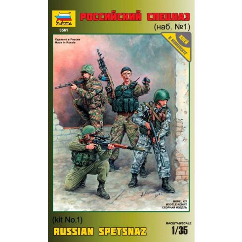 Russian Special Forces figura makett Zvezda 3561