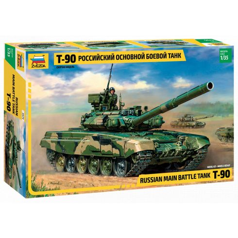 Zvezda Russian Main Battle Tank T-90 tank makett 3573