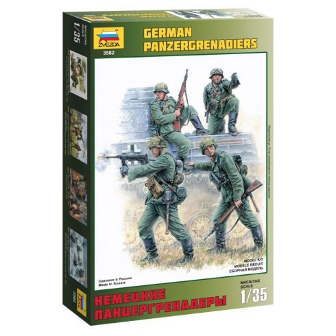 Zvezda German Panzergrenadiers figura makett 3582