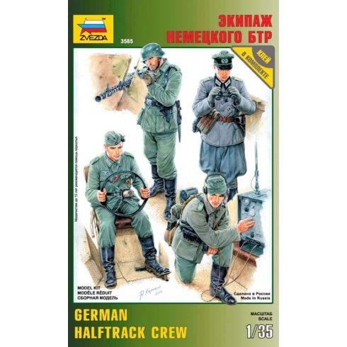 Zvezda German halftrack crew figura makett 3585