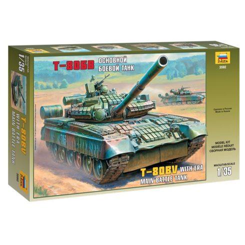 Russian Main Battle Tank T - 80BV tank makett Zvezda 3592