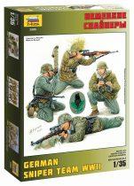 German sniper figura makett Zvezda 3595