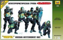 Russian Antiterrorist Unit ALFA figura makett Zvezda 3598