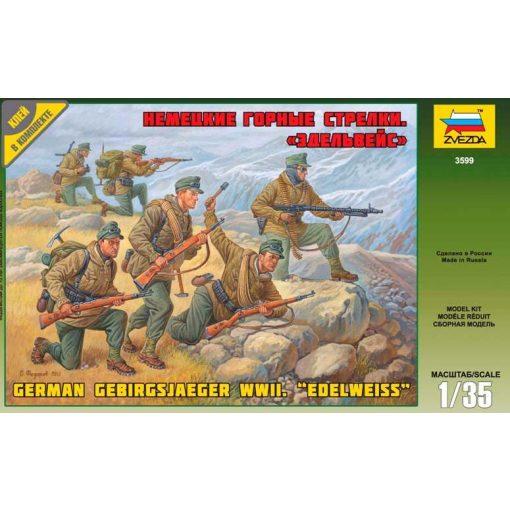German Gebirgsjager WWII Edelweiss figura makett Zvezda 3599