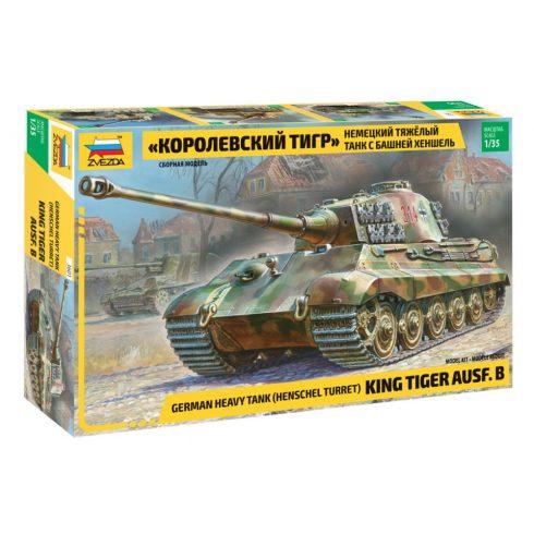 ZVEZDA KingTiger Ausf B (Henschel turret) tank makett 3601