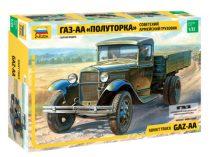 GAZ-AA Soviet Light Truck WWII katonai jármű makett Zvezda 3602