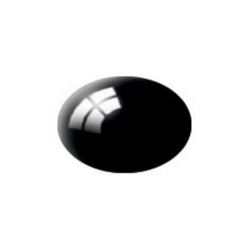 Revell AQUA BLACK GLOSS akril makett festék 36107