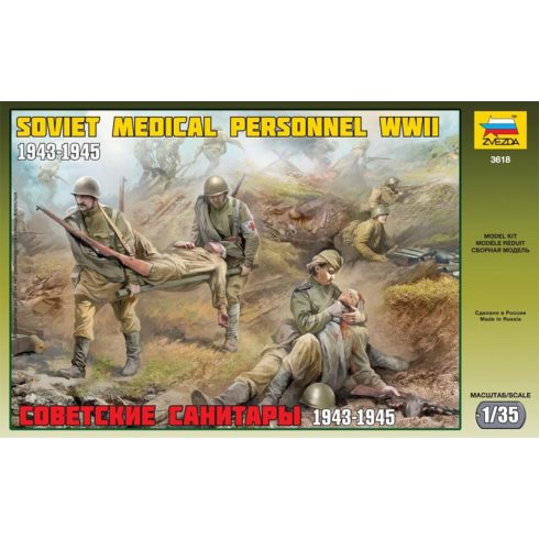 Soviet Medical Personnel WWII figura makett Zvezda 3618