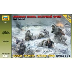 GERMAN INFANTRY. EASTERN FRONT Winter 1941-1942 figura makett Zvezda 3627