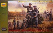 German R12 Heavy Motorcycle katonai jármű makett Zvezda 3632