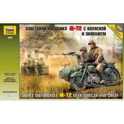 Soviet Motorcycle М-72 katonai jármű makett Zvezda 3639