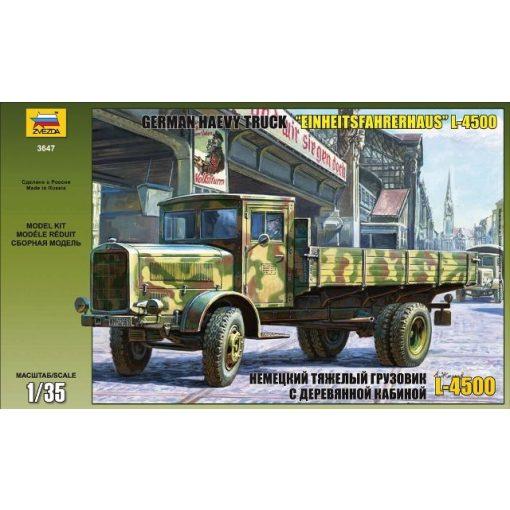 L- 4500 S EINHEITSKABINE (GERMAN TRUCK) katonai jármű makett Zvezda 3647
