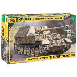Zvezda Sd.Kfz. 184 Elefant 1:35 tank makett 3659