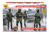 Zvezda Modern Russian Infantry Military figura makett 1:35 3665