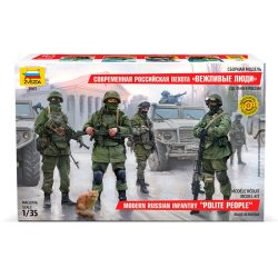 Zvezda Modern Russian Infantry Military figura makett 1:35 3665