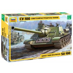 ZVEZDA Soviet SU-100 tank destroyer makett 1:35 3688