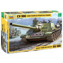 ZVEZDA Soviet SU-100 tank destroyer makett 1:35 3688