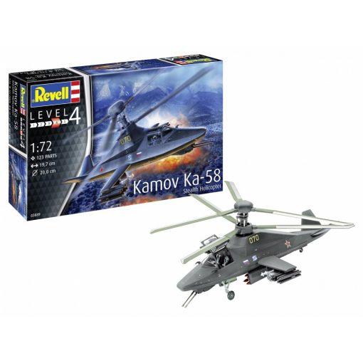 Revell Kamov Ka-58 Stealth helikopter makett 3889