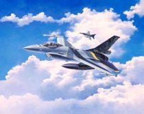 Revell Lockheed Martin F-16 MLu 100th Anniversary repülőgép makett 3905