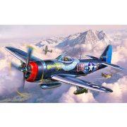 P-47 M Thunderbolt katonai repülő makett revell 3984