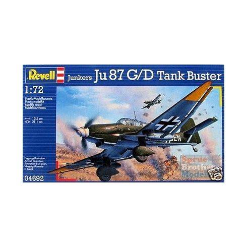 Junkers Ju 87 G/D Tank Buster katonai repülő makett 4692