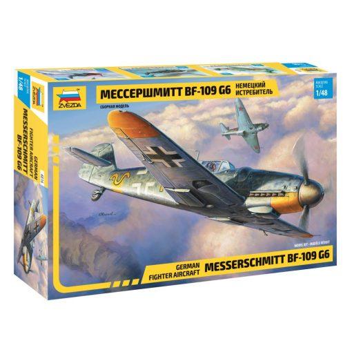 Zvezda Messerschmitt BF-109 G6 repülőgép makett 1:48 4816