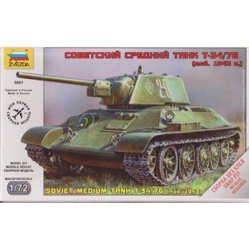 Zvezda Soviet Medium Tank T-34/76 tank makett 5001
