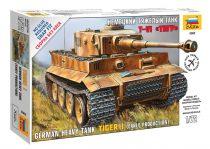 Zvezda German Heavy Tank Tiger I (early production) tank harcjármű makett 5002