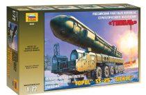 """Topol SS-25 """"Sicle"""" katonai jármű makett Zvezda 5003"""