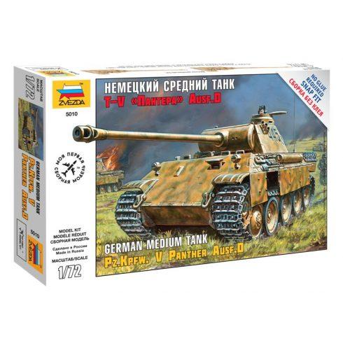 Zvezda Panzerkampfw.V Panther Ausf.D tank makett 5010