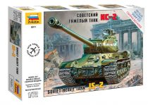 Zvezda Soviet Heavy Tank IS-II tank makett 5011