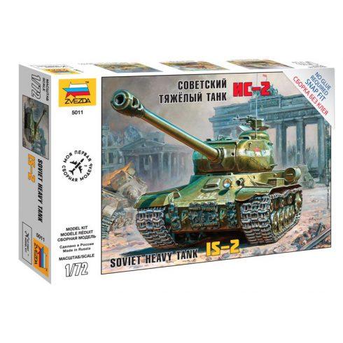 Zvezda Soviet Heavy Tank IS-II tank makett 5011