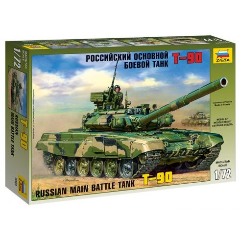Zvezda Russian Main Battle Tank T-90 tank makett 5020