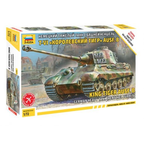 Zvezda King Tiger (SD.KFZ.182) German Heavy Tank makett 5023